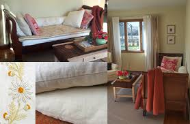 sofa into bed slipcover makeover turns sleigh bed into a sofa the slipcover maker