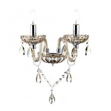 Wall Chandelier Traditional Chandelier Style Wall Light In Chagne Gold Glass