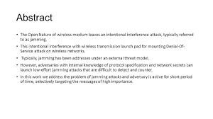 combining cryptographic primitives to prevent jamming attacks in