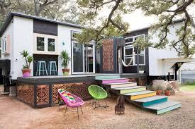 Tiny Home Dining Table Tiny Eclectic Texas Home Features Mix Of Colors And Styles 2015