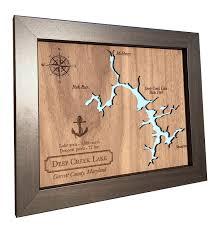 wood anniversary gifts wood lake map laser cut wood lake lake home decor wood