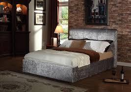 Crushed Velvet Bed Rome Crushed Velvet Silver Bed Bedz Online