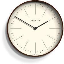 Wooden Wall Clock Newgate Mr Clarke Wall Clock Dark Homeware Thehut Com