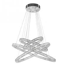 Galaxy Chandelier Galaxy 61 Led Light Chrome Finish And Clear Constellation