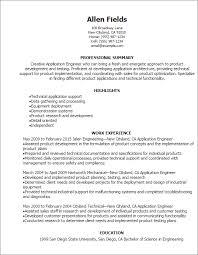 Creative Engineering Resume Professional Application Engineer Resume Templates To Showcase