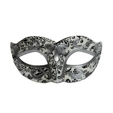 black and white masquerade mask buy white masquerade mask with black and silver designs at simply