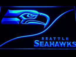 seahawks light up sign seattle seahawks football light up decor man cave signs light