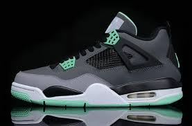 green glow 4 cheap sell black grey air retro 4 cement shoes green glow