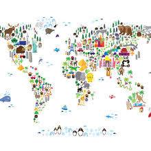 world map wallpaper atlas wall murals photowall com