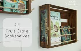 Crates For Bookshelves - diy fruit crate bookshelves