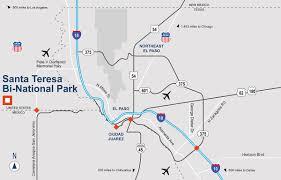 El Chicago Map by Santa Teresa Bi National Park 401 Avenida Ascension Idi Gazeley