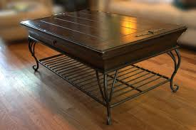 Coffee Table Wood And Glass Wrought Iron Coffee Table With Glass And Wooden Round