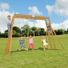 Playground Flooring Lowes by Shop Creative Playthings Residential Wood Playset With Swings At