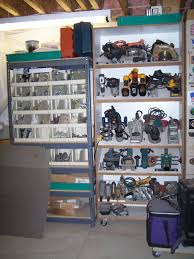 tools organized ideas for the garage love the slanted shelves