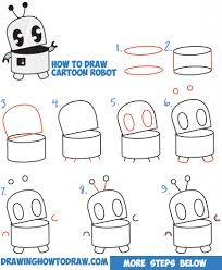 drawing teaching step step draw cute kawaii