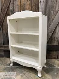 White Shabby Chic Bookcase Cranberry Painted Bookcase With Added Gold Stencil
