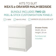 ikea malm bedside table styl panel kit 1113 to suit ikea malm 2 drawer bedside table stylkea