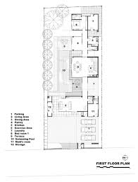 first floor plan l71 house bangkok by office at