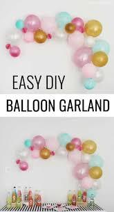 Balloon Diy Decorations Diy Balloon Decorations For Birthday Home Decor Ideas
