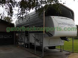 travel trailer with garage rv carports rv covers rv garages gatorback carports