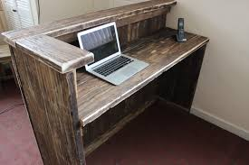 Small Salon Reception Desk by Hairdresser Salon Spa Barber Hotel Rustic Solid Driftwood Wood