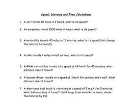speed calculations by ishratm teaching resources tes