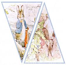rabbit banner rabbit banner 10 flags 5 x 7 5 inches by boxesbybrkr on etsy