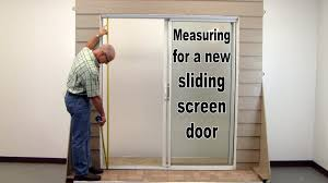 Sliding Screen Patio Doors How To Measure For A New Sliding Screen Door