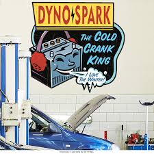 dyno spark battery vintage style wall decal garage wall decals