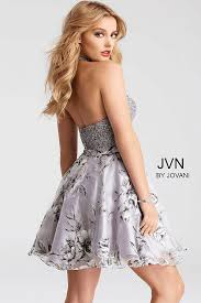 grey floral print two piece sleeveless chiffon short dress
