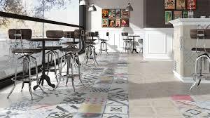 indoor tile floor porcelain stoneware art deco pattern