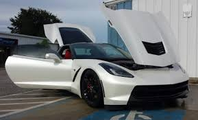 pearl white corvette photo gallery addiption ta florida s auto customization