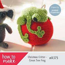 christmas critter green tree frog free amigurumi english