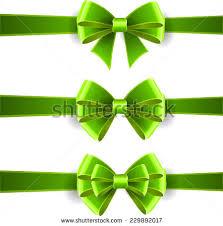 green ribbon bow stock images royalty free images vectors