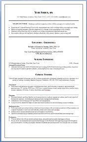 Sample Ng Resume by New Graduate Nurse Resume 11 Resume Examples For Graduate Nursing
