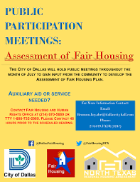 Dallas Zoning Map Fair Housing Act