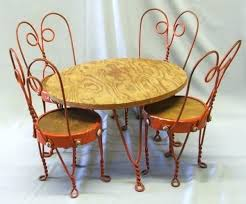 ice cream table and chairs ice cream parlor chair cushions vintage ice cream chair antique old