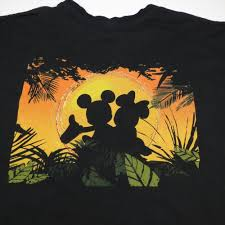 crazy shirts disney mickey u0026 minnie mouse vacation hawaiian sunset