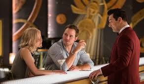 the sci fi drama u0027passengers u0027 is narratively over plotted and