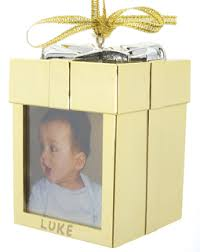 recordable ornament gold personalized ornament