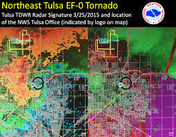 Map Of Tulsa March 25 2015 Severe Weather