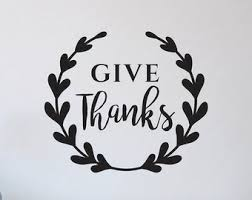 thanksgiving decals items similar to give thanks vinyl decal thanksgiving decor
