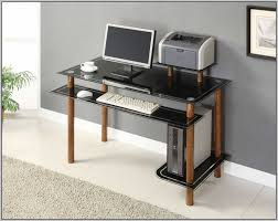 Asda Computer Desk Glass Computer Desk Asda Black Glass Computer Desk With Drawers