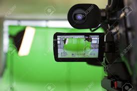 Green Tv by Lcd Display Screen On A High Definition Tv Camera In A Green