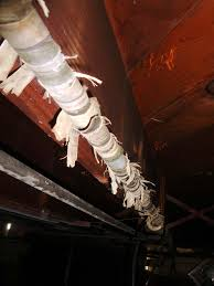 Basement Wrap tattered pipe wrap insulation not asbestos textile wrap u2026 flickr