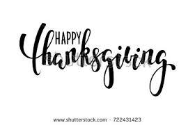 happy thanksgiving calligraphy brush stock vector