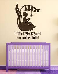 Nursery Rhyme Wall Decals Nursery Rhyme Wall Decals Miss Muffett Nursery Wall
