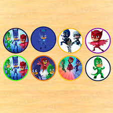 pj masks stickers topper kids birthday toppers pj partyinstant