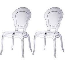 lexmod philippe starck style louis ghost chair in clear