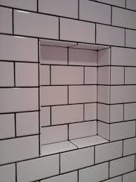 perfect subway tile by bathroom subway tile with tobacco brown
